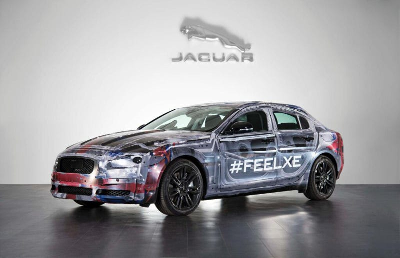 See The BMW-Fighting 2016 Jaguar XE In The Bare Metal