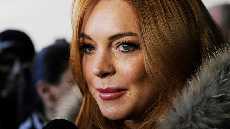 Lindsay Lohan Sings Stevie Nicks at Republican's 50th Birthday Party