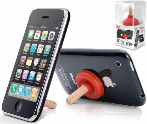 iPlunge, the Miniature Plunger iPhone Kickstand, Described In Words