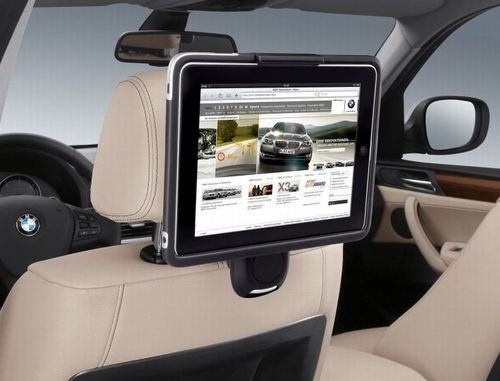 BMW iPad Holder: Luxurious Back Seat Surfing In A Flash