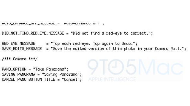 iOS 5 Code Hints at Built-in iPhone Panoramic Camera