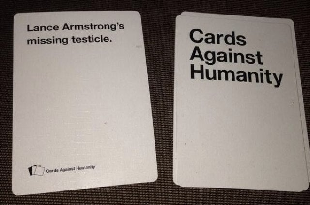 Lance Armstrong Drew the Most Painful Card in Cards Against Humanity