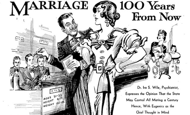 In 2033, all marriages will be controlled by dystopian government bureaucrats