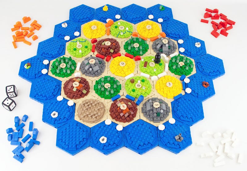 Homemade Settlers of Catan board game turns your sheep into LEGO bricks