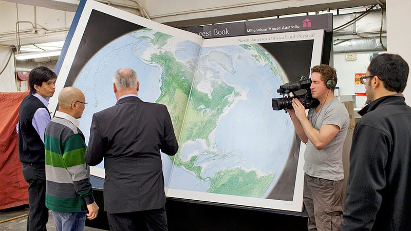 World's Largest Atlas Needs Two People To Turn Each Page