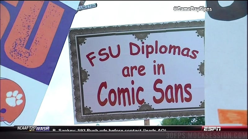 Man, College Was Awesome: Your Clemson-FSU GameDay Sign Roundup
