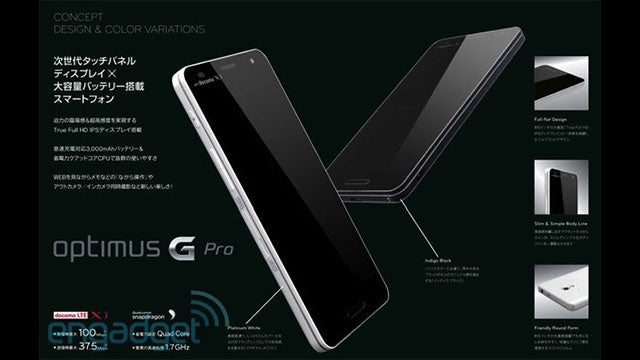 Rumor: LG's New Optimus G Pro Will Have a 5-Inch 1080p Screen