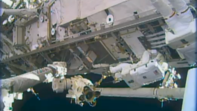 Astronauts made a rare six hour spacewalk on Christmas Eve to fix ISS