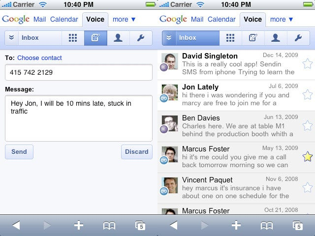 Google Voice Finally Heads to iPhone, Palm Pre With HTML5 Webapp