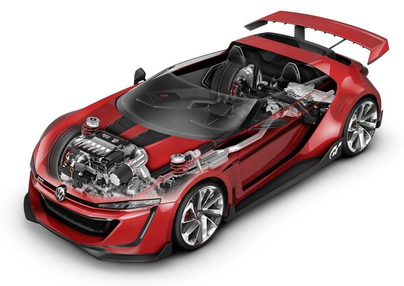 These Stunning Cutaways Take Us Inside VW's Virtual GTI Roadster