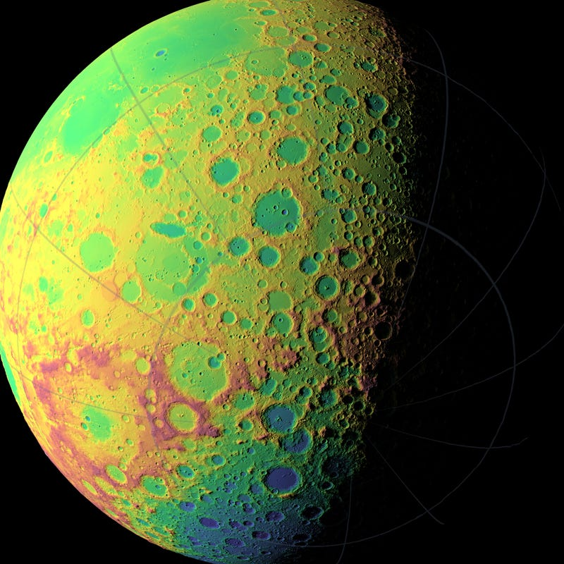 The far side of the Moon at its most psychedelic