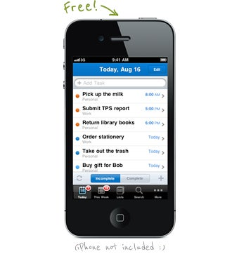 Remember the Milk for iPhone Now Free for All