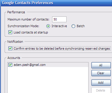 Google Contacts Syncs Your Google Address Book with Thunderbird