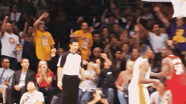I Can't Stop Looking At This GIF Of These Two Lakers Bros