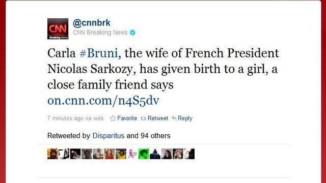 Carla Bruni Sarkozy Gives Birth To Baby Girl