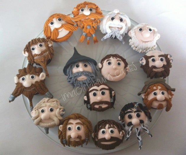 These Hobbit cupcakes have movie-accurate Dwarf beards