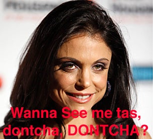 Real Housewife Bethenny Frankel Flashes Ta For PETA