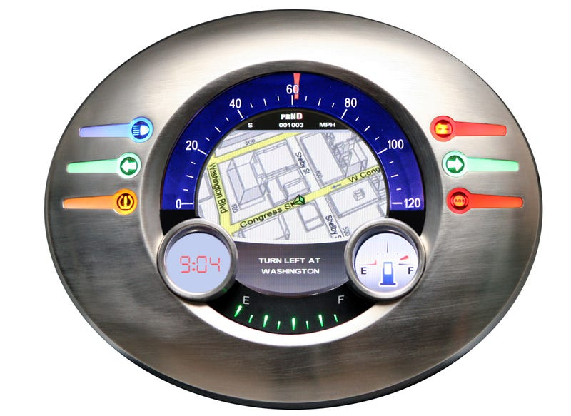 Yazaki LCD Gauge Cluster Concept: Reconfigurable, Linux-Based, Looks Awesome