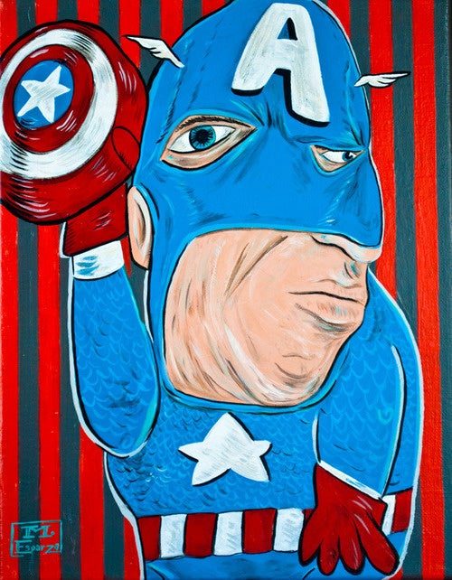 Picasso-Inspired Paintings Melt Familiar Superhero Faces