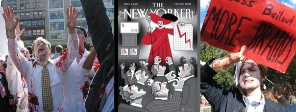 Wall Street Undead Feast On New Yorkers' Brains
