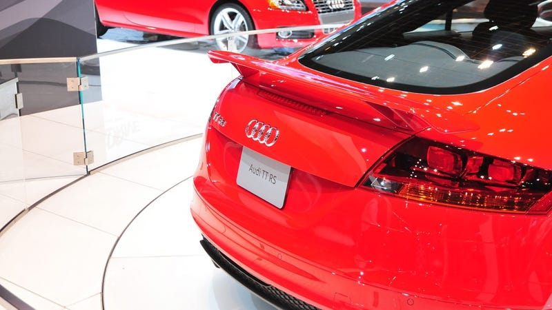 Audi TT-RS comes in from the Chicago cold