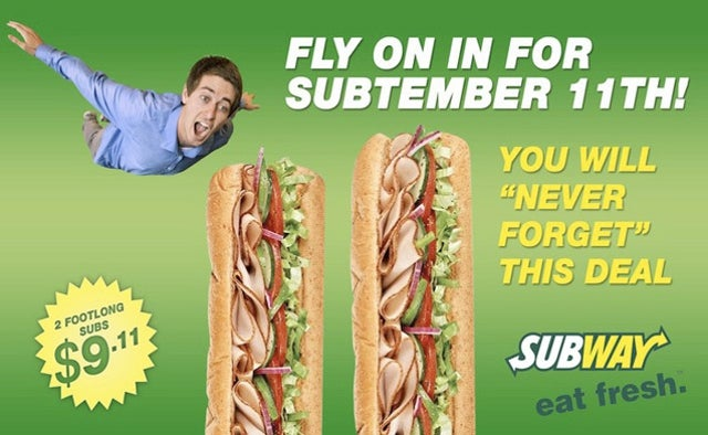 Subway Honors The Onion's 'Offensive' 9/11 Coupon
