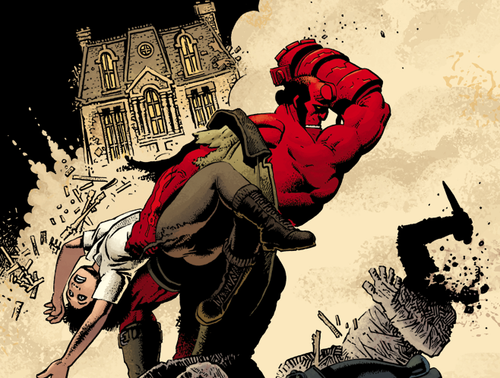 Wednesday's comics = heavy metal Hellboy and lost art from Gorillaz artist Jamie Hewlett