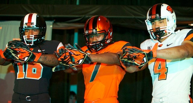 Oregon State Has New Uniforms, And One Fearsome Beaver