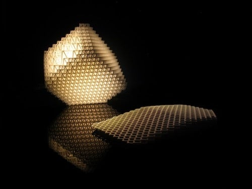 This Is One Classy Laser-Made Collapsable Lamp