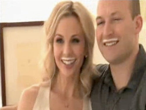 "Elisabeth Hasselbeck & Husband Shoot ""Got Milk?"" Ad"