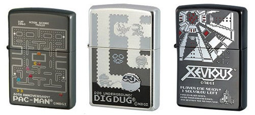 Smoke Retro With Namco's Game Zippo Lighters