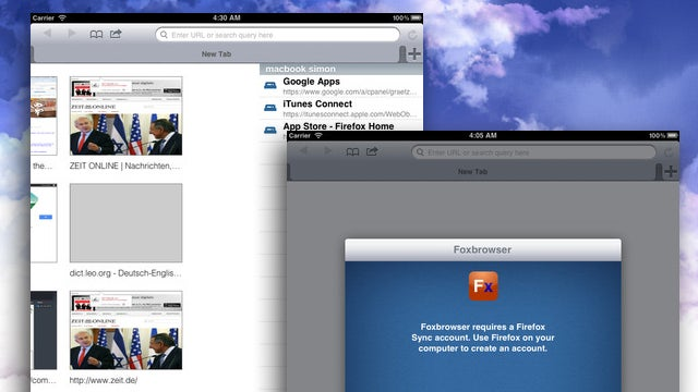 Foxbrowser Is a Free, Open Source Web Browser for iPad that Supports Firefox Sync