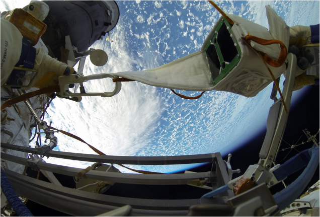 This Is How Astronauts Release Nanosatellites Into Space