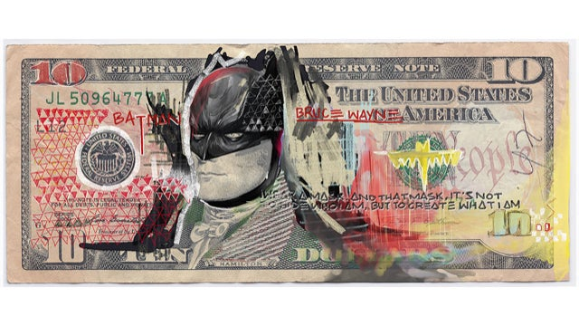 The Justice League sells out in this awesome DC superhero money art