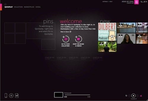 Zune HD Review Gallery Software