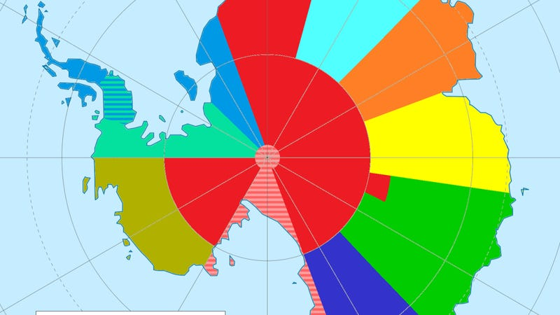 So this is what time zones look like in Antarctica