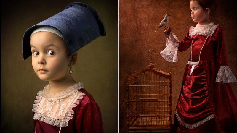 Father's Stunning Portraits of His Daughter Look Like Classic Paintings by the Masters