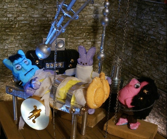 Sugary scifi scenes remade with Peeps