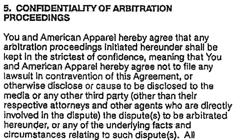 The Gag Agreement American Apparel Makes All Its Models Sign