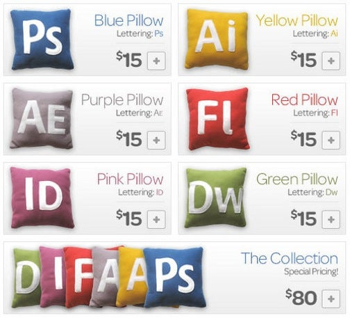 Adobe Creative Suite Pillows Are All About Design