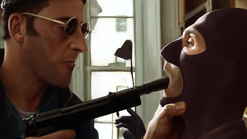 A Scene From The Professional Recreated Using Team Fortress 2 Characters