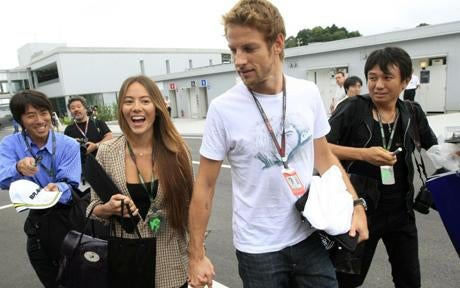 Jenson Button finally popped the question.