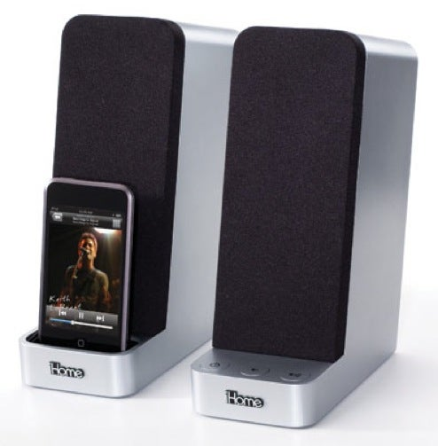 iHome iH69 Computer Speakers With Integrated iPod Dock