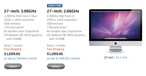 Apple Puts Massive Delay on 27-inch iMac Shipments