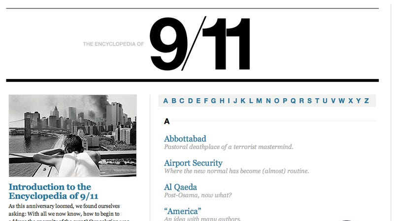 New York Magazine's 9/11 Encyclopedia Is Perfect