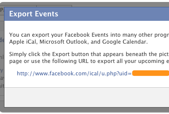 Add Your Facebook Events to Google Calendar