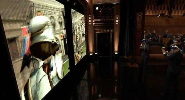 Sony's Virtual Reality Headset Gets Jimmy Fallon Flailing
