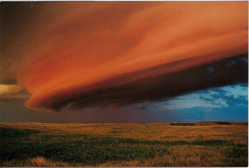 A Red Storm Boils over the Jovian Prairie