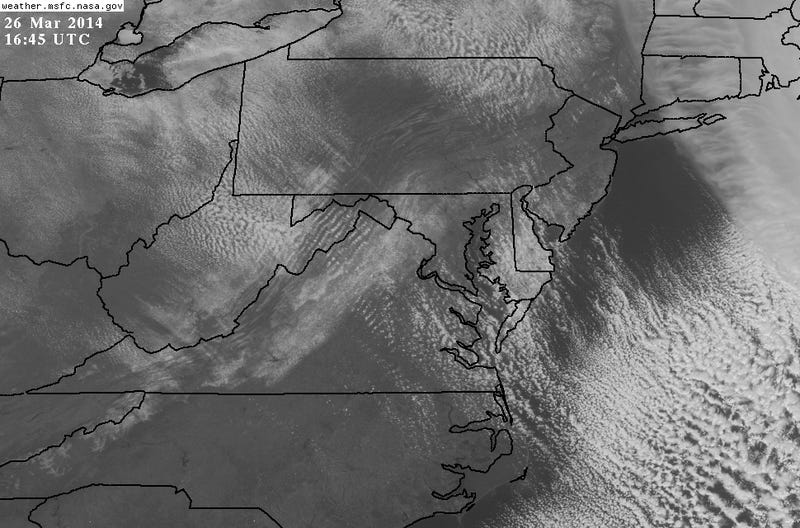 Textbook Nor'easter Looks Gorgeous on Satellite and Analysis Maps