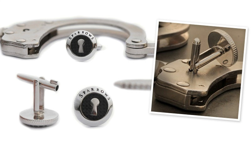 Handcuff Key Cufflinks Would Get James Bond Out of Any Lock-Up